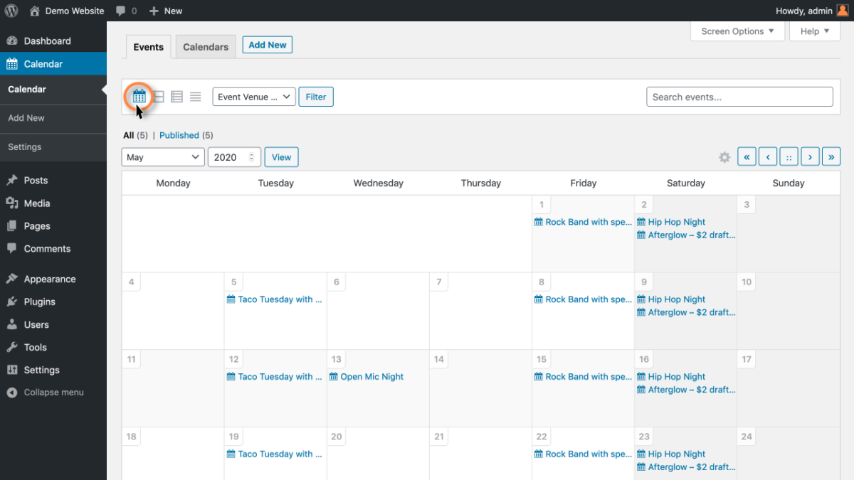 Sugar Calendar Screenshot